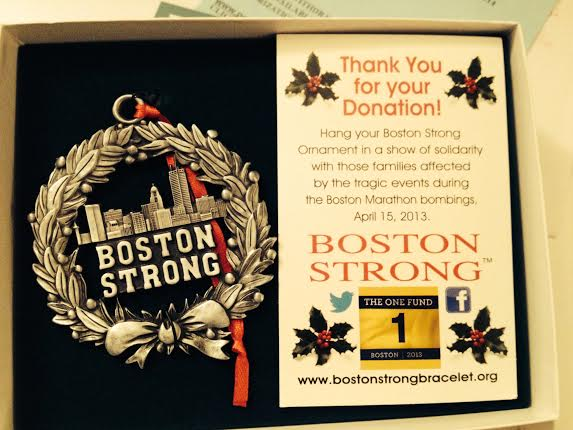 (5) Boston Strong Ornament for SUPER 5K Raffle