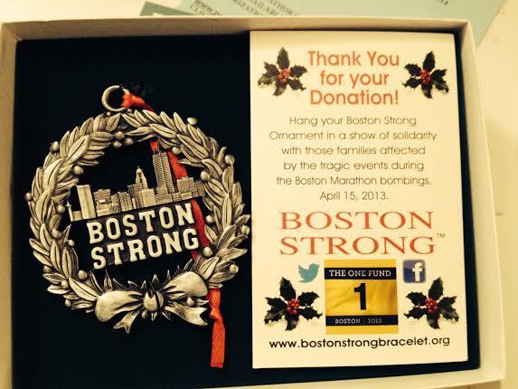 (5) Boston Strong Ornament for SUPER 5K Raffle