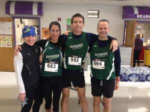 Claire, Diane, Mike, and Dave at Boston Prep 16 Miler in Derry, NH.